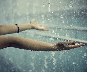hands, photography, and rain image