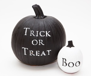 Halloween, black and white, and boo image