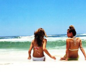 beach, best friends, and bff image