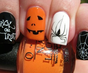 Halloween, nails, and spider image
