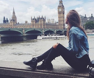 london, girl, and travel image