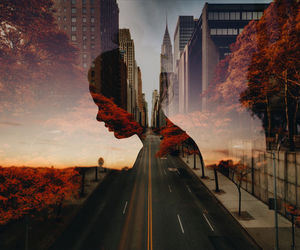 fall, new york, and photography image