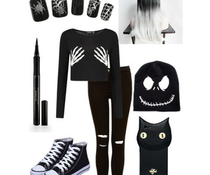 black, Halloween, and Polyvore image