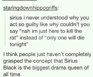 drama queen, harry potter, and sirius black image