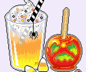 candy apple, kawaii, and drink image