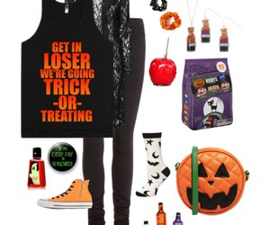 fashion, Halloween, and Polyvore image