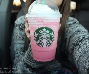starbucks, pink, and tumblr image