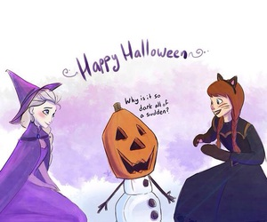 anna, frozen, and Halloween image
