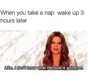 funny, khloe kardashian, and sleep image