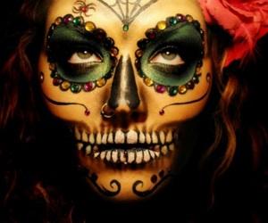 makeup, Halloween, and dia de los muertos image