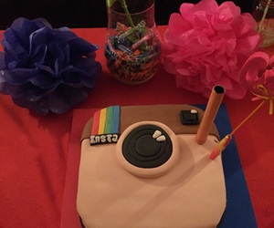 birthday, cake, and instagramcake image