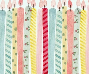birthday, candles, and pastel image