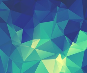blue, colorful, and geometrical image