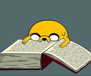 adventure time, JAKe, and book image