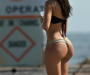 beach, squat, and bikini image