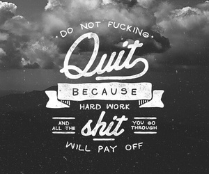 quote, motivation, and hard work image