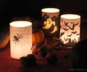 Halloween, ghost, and spider image