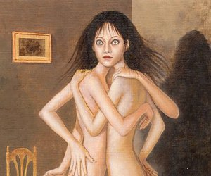 art, creepy, and girl image