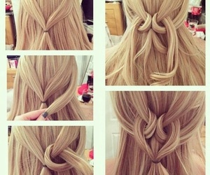 hair, hairstyle, and heart image