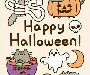 Halloween, cat, and pusheen image