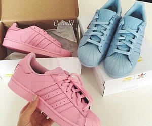 shoes, adidas, and pink image