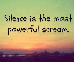 quotes, silence, and scream image