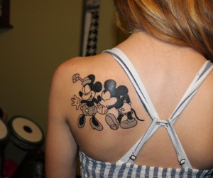 tattoo, disney, and girl image