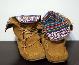 shoes, boots, and aztec image