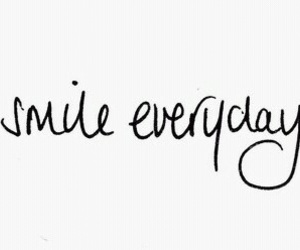 quote, smile, and black image