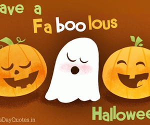 cute ghosts, funny halloween, and happy pumpkin image