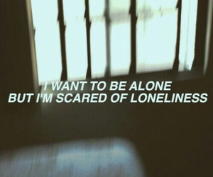 alone, loneliness, and quotes image