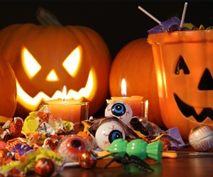 Halloween, candy, and pumpkin image