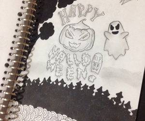 black, drawing, and ghost image
