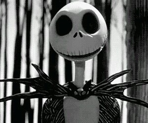jack, jack skellington, and black and white image