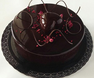 cake, chocolate, and great image