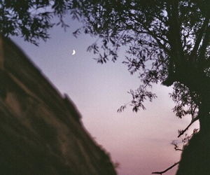 moon, sky, and nature image
