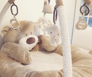 baby, playtime, and teddy image