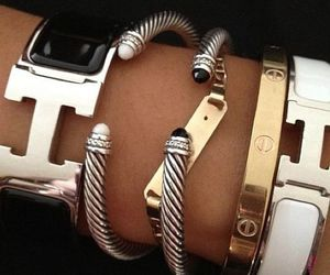 bracelet, hermes, and accessories image