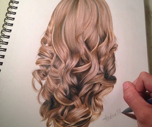 channel, hair, and lipstick image