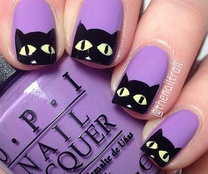 nails, cat, and Halloween image