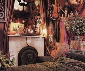 bedroom, home, and bohemian image