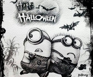 Halloween, minions, and despicable me image