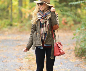 fall, fashion, and hat image