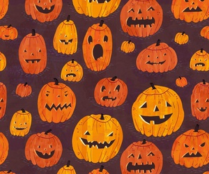 pumpkin, Halloween, and wallpaper image