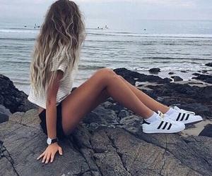 adidas, hair, and summer image