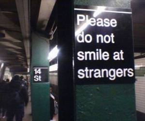 smile, grunge, and stranger image