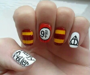 nails, harry potter, and gryffindor image