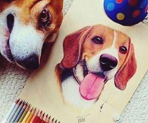 dog, drawing, and art image