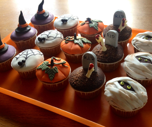 cupcake, cupcakes, and grave image