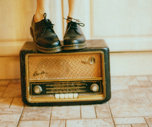vintage, shoes, and radio image